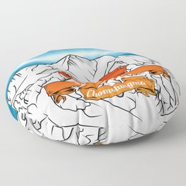 Mount Everest Floor Pillow
