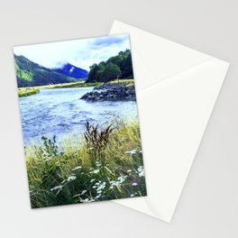 As a River Serpentines Through the Mountains Stationery Cards