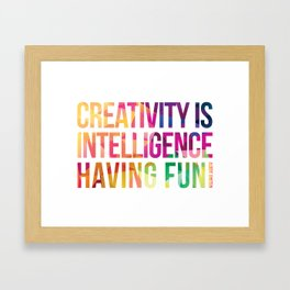 Creativity  Framed Art Print