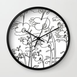 Field of Wild Wall Clock