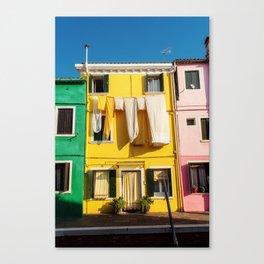 Beautiful Burano Italy Canvas Print