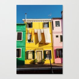 Beautiful Burano Italy Canvas Print