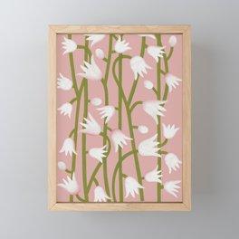 Climbing Lillies on Pink Framed Mini Art Print