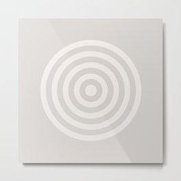 Cream Series 1 - Retro Circles Metal Print