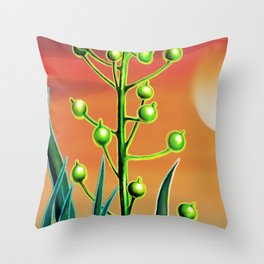 Wild plant at sunset Throw Pillow