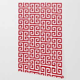 red and white wallpaper for any decor style society6 society6