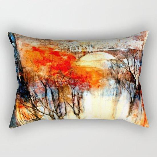 Morning Fog Reflection Rectangular Pillow