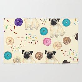 Pugs and donuts sweet sprinkles Rug