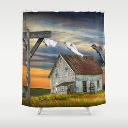 Wash on the Line Shower Curtain