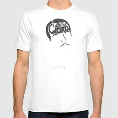 I Won't Say a Word! -The Artist SMALL White Mens Fitted Tee