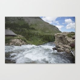 Waterfall Montana Canvas Print