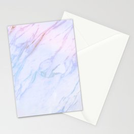 cotton candy marble Stationery Cards