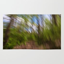 Abstract Forest Streaks Rug