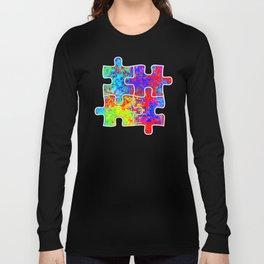 Autism Colorful Puzzle Pieces Long Sleeve T-shirt