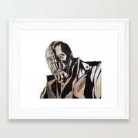 bane Framed Art Prints featuring Bane  by iArtSometimes