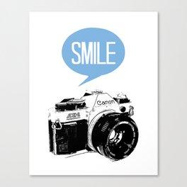 Vintage Canon Camera, Smile Canvas Print