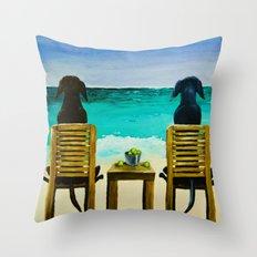 Beach Bums Throw Pillow