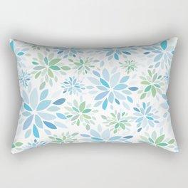 Nature's Healing Mandala Blue Rectangular Pillow