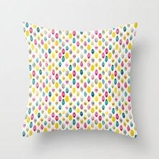 jewel drops Throw Pillow