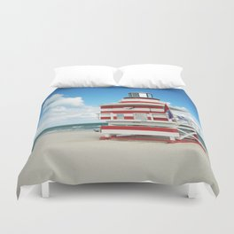 Baywatch House (Miami Beach, Florida) Duvet Cover