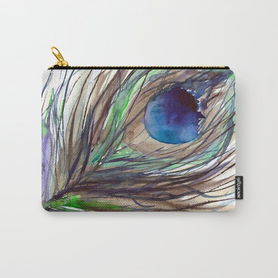 Peacock piece || watercolor Carry-All Pouch