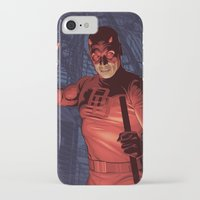 daredevil iPhone & iPod Cases featuring Daredevil by Arne AKA Ratscape