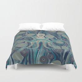 Ocean Vintage Octopus Surf Gold Summer Duvet Cover