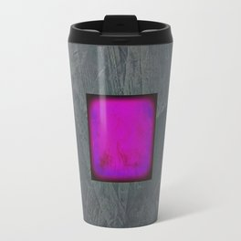 Slate Gray Lavender Fuschia Modern Art Travel Mug