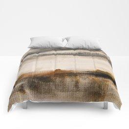 Steppe landscape Comforters