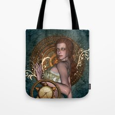 Steampunk, beautiful steampunk women Tote Bag