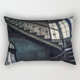 Twisted blue and gray staircase Rectangular Pillow