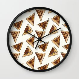 Vegemite on Toast Dreams in white Wall Clock