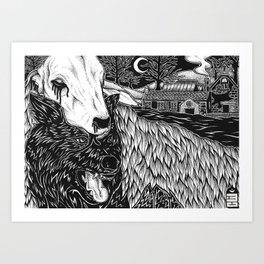 Wolf In Sheeps Clothing Art Print