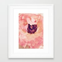 peony Framed Art Prints featuring Peony by Ameliamiller