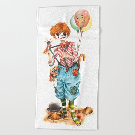 pantomime-wokk Beach Towel