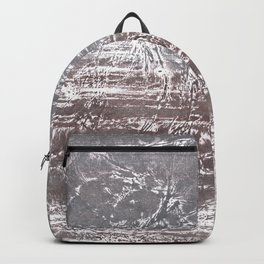 Gray nebulous wash drawing Backpack