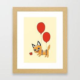 Balloon Cat Framed Art Print