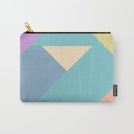 colorful triangular pastel background Carry-All Pouch