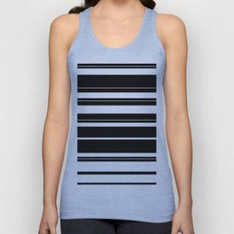 Black And White Stripes Unisex Tank Top