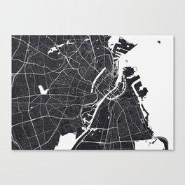 Copenhagen City Map Canvas Print