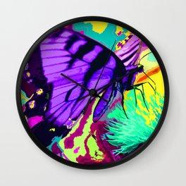 Purple butterfly beauty 1 Wall Clock