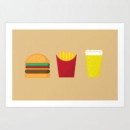 Fast Food Deluxe Art Print