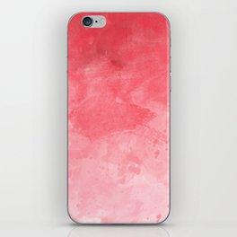 Red Watercolor iPhone Skin