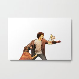 Eric Andre On Fire Metal Print