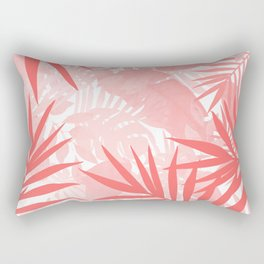 Elegant Tropical Blush Paradise Rectangular Pillow