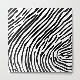 Skin of a zebra Metal Print
