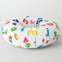 colourful alphabet Floor Pillow