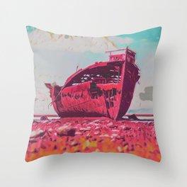 Shipwreck III Throw Pillow