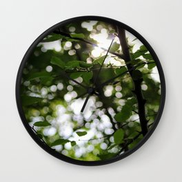 Early Morning Forest Hike Wall Clock