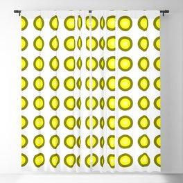 Bullseye -- Yellow Blackout Curtain